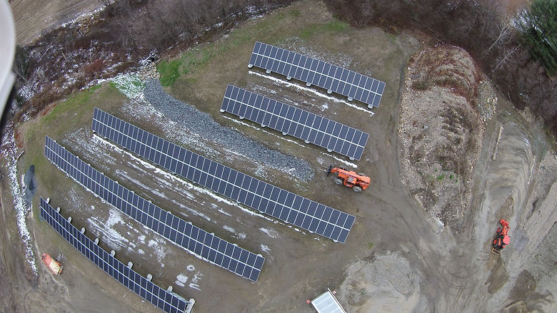 Town of Waitsfield Municipal Solar Array installed by Aegis Renewable Energy