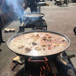 Paella op vuur