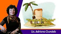 """""""Síndrome de la isla"""" en pandemia - Lic. Adriana Guraieb"""