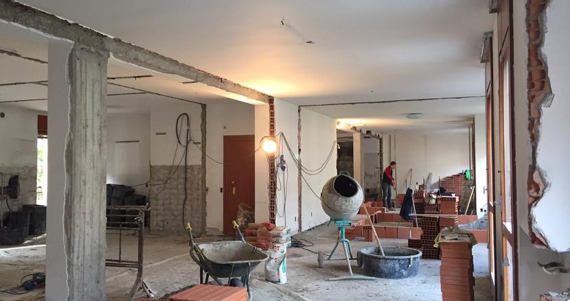 Unione di due appartamenti e completa revisione degli spazi
