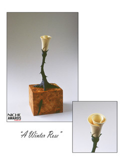 """A Winter Rose"" detail"