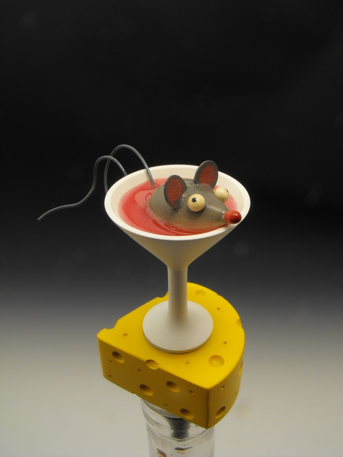 """Drunken Mouse"" bottlestopper"