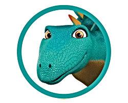 Dinosaur Whack in circle graphic