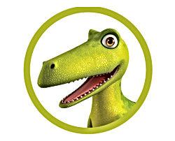 Dinosaur Squeak in circle graphic