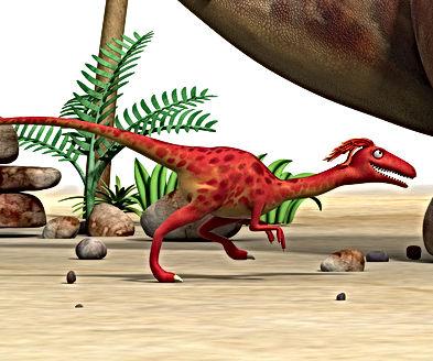 Dinosaur Whizz runs under Dinosaur Stomp