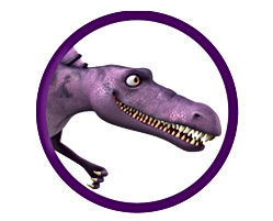 Dinosaur Snap in circle graphic