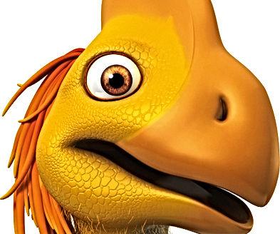 Close up of Dinosaur Flap