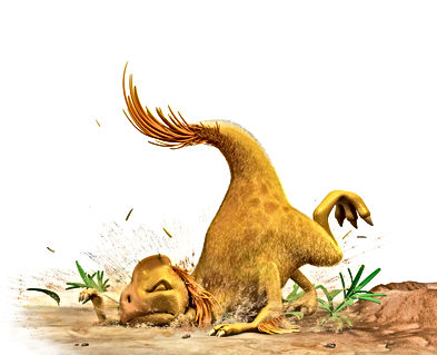 Dinosaur Flap falling over