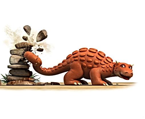 Dinosaur Bash breaks rocks with tail