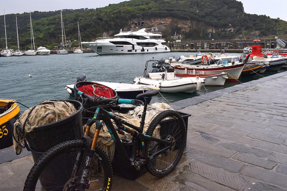 mountain bike at Porto Venere