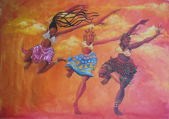 3 ORANGE DANCERS