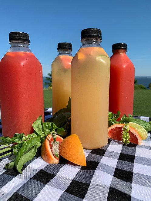 Grapefruit Basil Cooler- serves 8