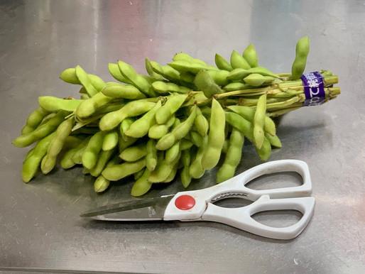 この夏の思い出は枝豆の美味しさとハサミ。猛暑の夏と共にスライスにグッドバイ!