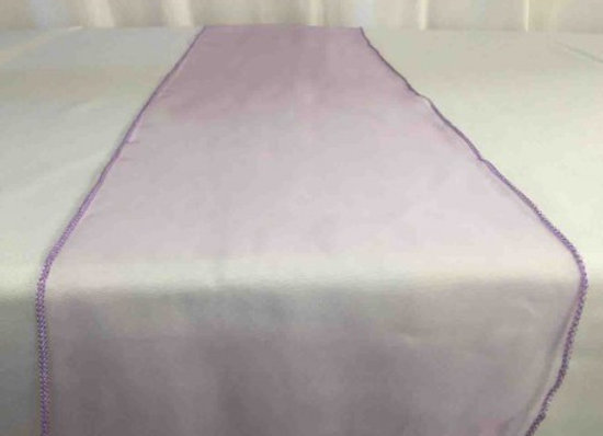 Chemin de table organza parme