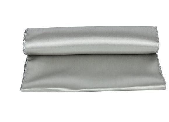 Chemin de table satin gris
