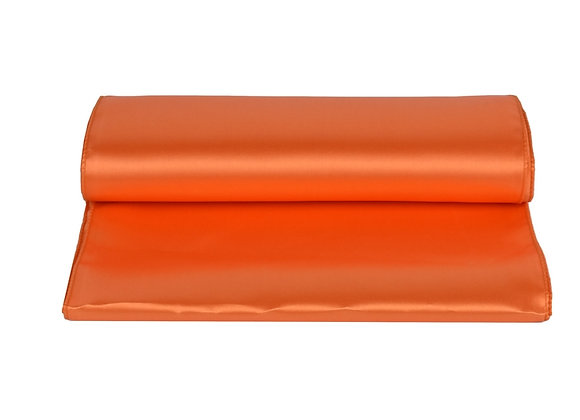 Chemin de table satin orange