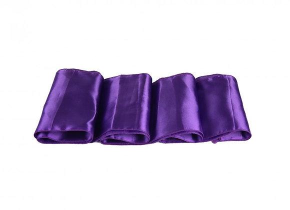 Chemin de table satin violet