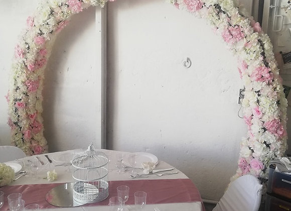 Arche ronde fleuris