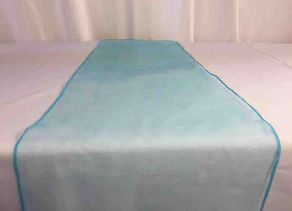 chemin de table organza turquoise