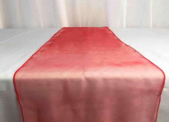 chemin de table organza rouge