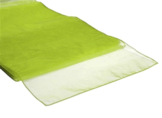 chemin de table organza vert anis