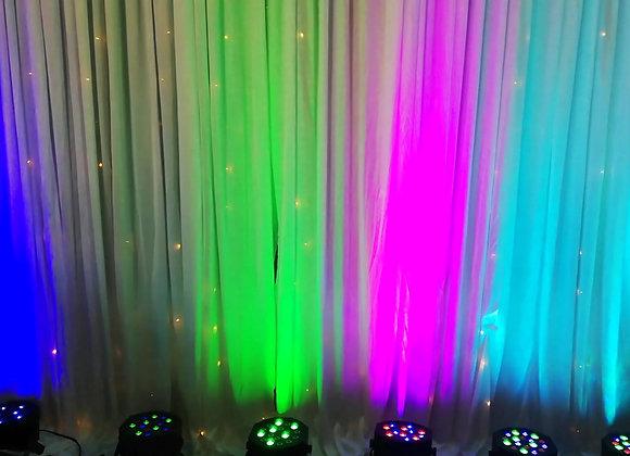 Pack 8 projecteurs led lumières d'ambiance