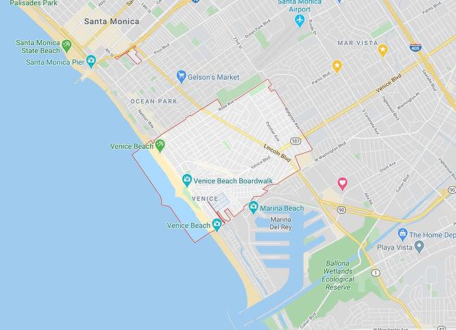 Venice California Map