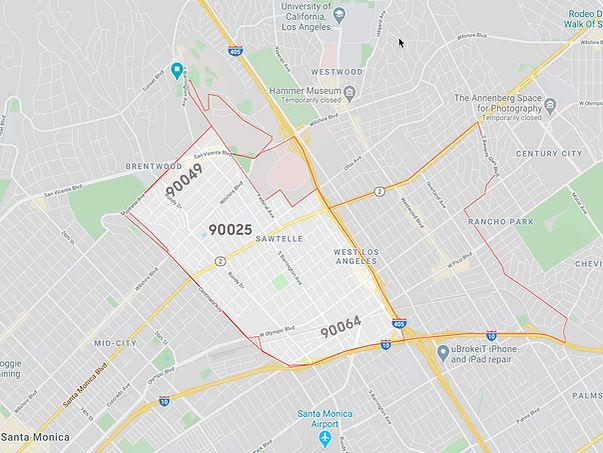 Sawtelle Los Angeles Map