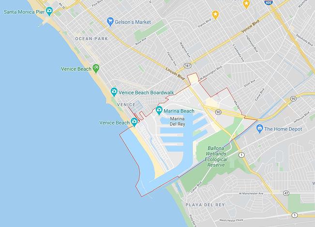 Marina Del Rey Map