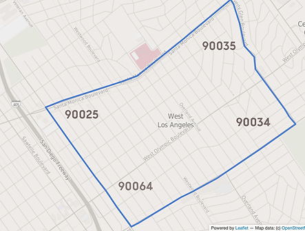 West Los Angeles Map