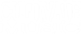 Cultivate Music logo white affordible music videos