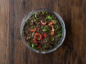Salade de fraîche de lentilles au vinaigre de cidre