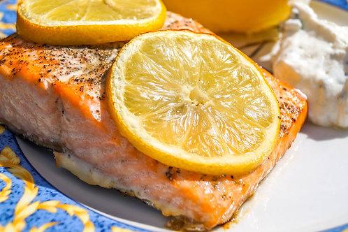 Dos de saumon confit au citron