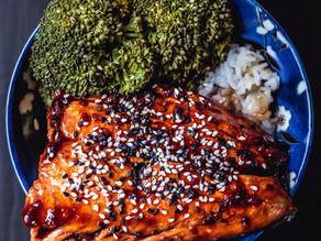 Bowl de saumon Yakitori et brocoli