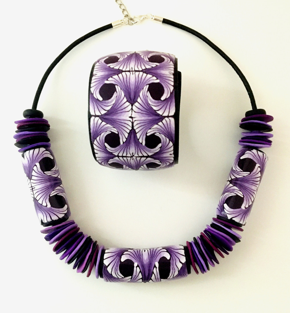 Purple Passion Necklace and Cuff Set