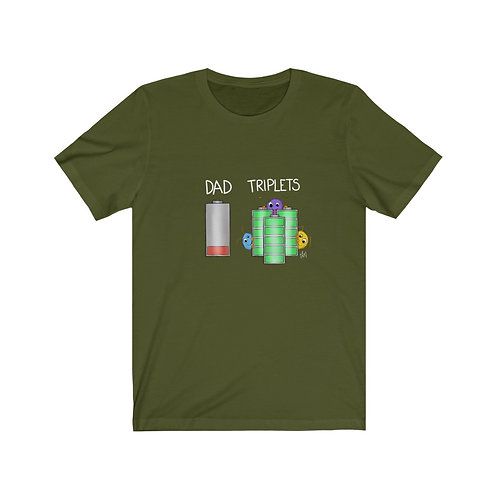 Dad/Triplets Battery T-Shirt