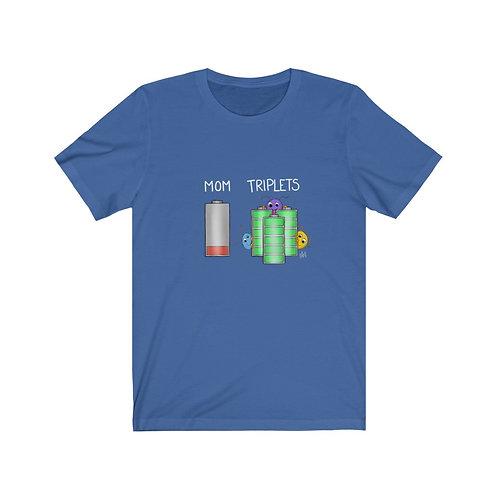 Mom/Triplets Battery T-Shirt