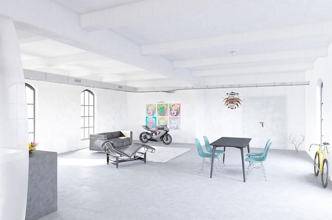 Innenvisualisierung Loft
