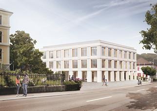 Aussenvisualisierung Clientis Biene Bank, Altsätten SG