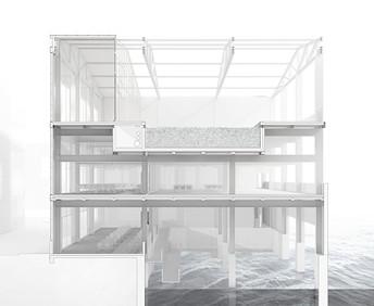 3D Schnitt Entwurf Lissabon