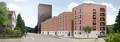 Aussenvisualisierung Wohnprojekt, Winterthur CH