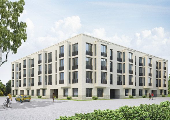 Aussenvisualisierung Wohnprojekt, Amsterdam NE