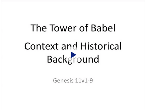 Tower of Babel - Context