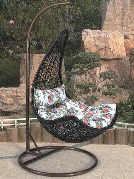 Maple Leaf Swing Chair Black