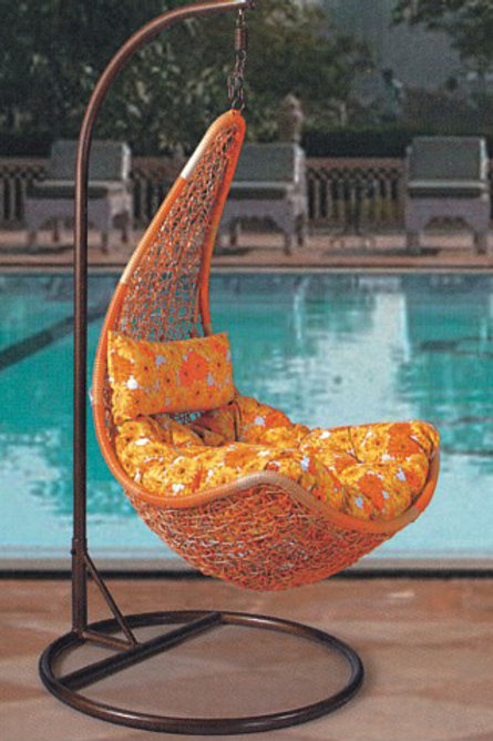 Maple Leaf Swing Chair Orange