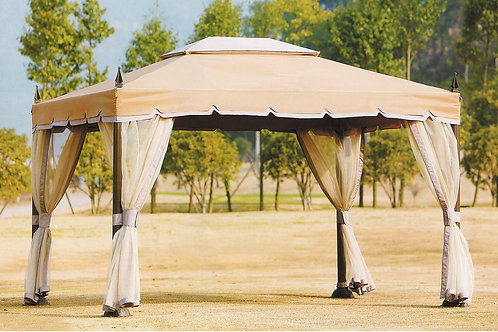 Rome Gazebo Double Top with Mosquito Netting LGMD