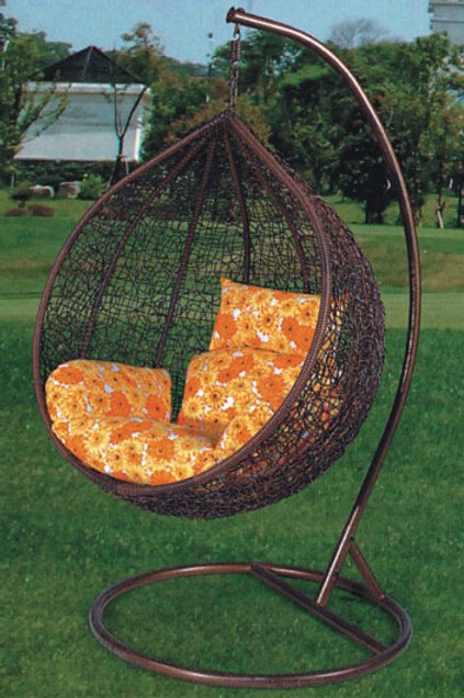 Bird-Nest Swing Chair Brown