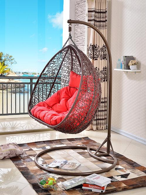 Hazelnut Double Swing Chair Brown