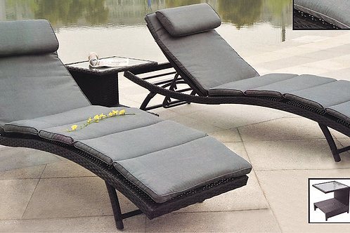 Chaise Lounge Set 3-piece