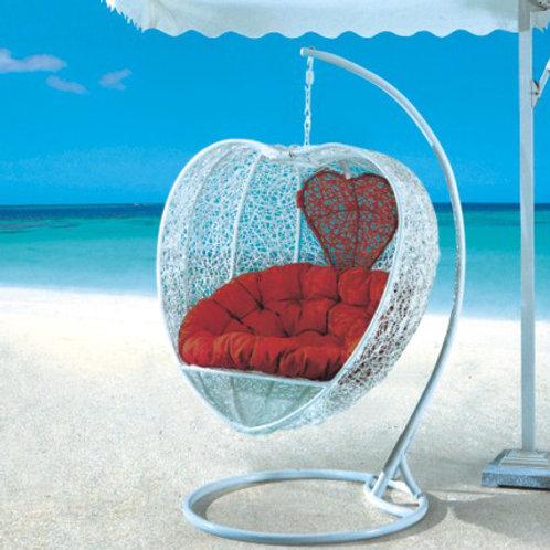 Heart Swing Chair White